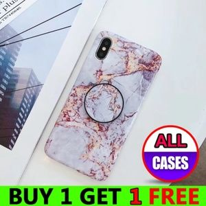 Accessories - iPhone X/XS/7/8/Plus/Max/XR Marble Case W/Holder